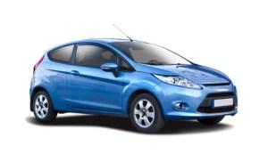 Blue isolated car