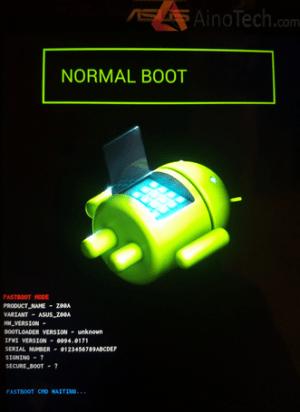 Asus ZenFone 2 boot