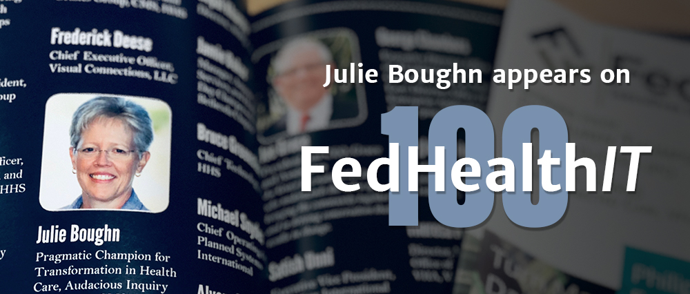 Julie Boughn Appears on FedHealthIT100
