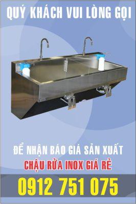 bon rua inox dap chan 266x400 - Gia công bồn rửa inox