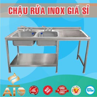 chau rua inox doi ban cho 400x400 - Bán chậu rửa inox