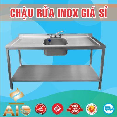 chau rua inox don ban cho 2 ben 400x400 - Xưởng sản xuất chậu inox