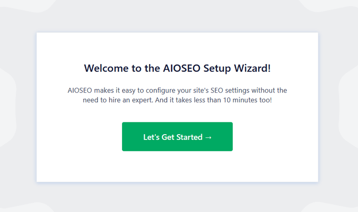 aioseo setup wizard