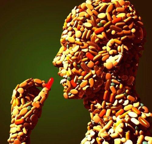 Image-shape of a man-vitamins & minerals