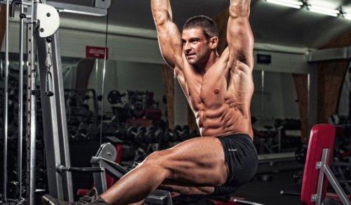 Man performing ab workout