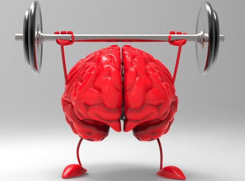 image_red_brain lifting weights