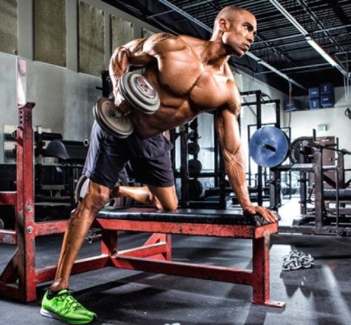 athletic male working out