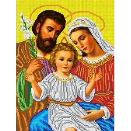 ТКБИ 3055/ж Святое семейство Канва с рисунком для вышивки ...