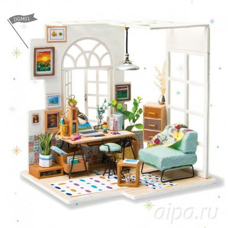 Домашний кабинет Набор для создания миниатюры румбокс ...
