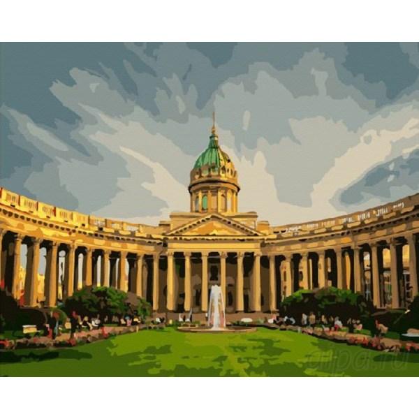 GX8120 Казанский собор Раскраска картина по номерам на ...