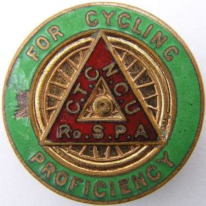 Cycling Proficiency Test, Badge and Certificate