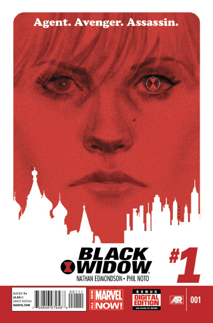 And so it begins: All New Marvel Now, or as we all like to call it Marvel Now 2: Electric Boogaloo! New books, new arcs, new beginnings, and new teams galore! The first one on the list for me to check is one that I've been excited to read since it has been announced: Black Widow, written by Nathan Edmondson (he wrote Dancer for Image) and Phil Noto (whose work on Jonah Hex I absolutely adore). Is it good?