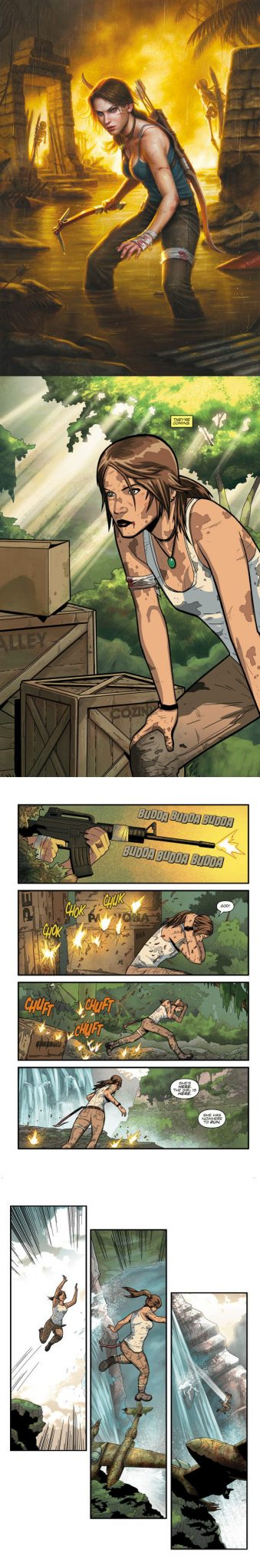 Tomb Raider is getting her own comic compliments of Dark Horse Comics come February 26 and we've got a handy dandy preview for all you yokels. Check it out!