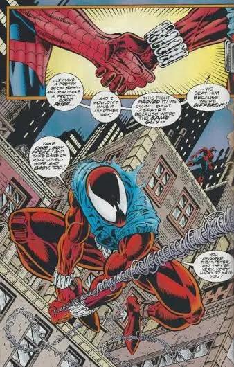 spider-man-the-clone-saga-scarlet-spider-spiderman-shake-hands