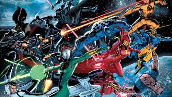 Take one look at the cover and you should be excited for one hell of a brawl between the Avengers and a team that looks strangely like the Justice League. Ooohhh this is going to be...wait is it good?