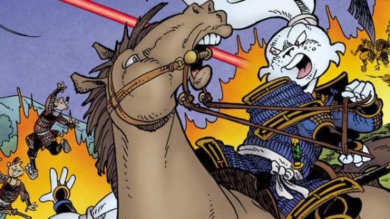 With a semi-successful TMNT movie out (okay it might not be a great film, but hey, it made money) it's at least somewhat plausible we'll one day get a Usagi Yojimbo film too. The character is similar in some ways; talking animal with humanoid features...fights bad guys...looks cool...okay maybe I'm stretching it, but damn if it wouldn't be cool to see. I bring this up because the latest miniseries featuring the character focused on a time in his future; could be an awesome movie, but is it good?