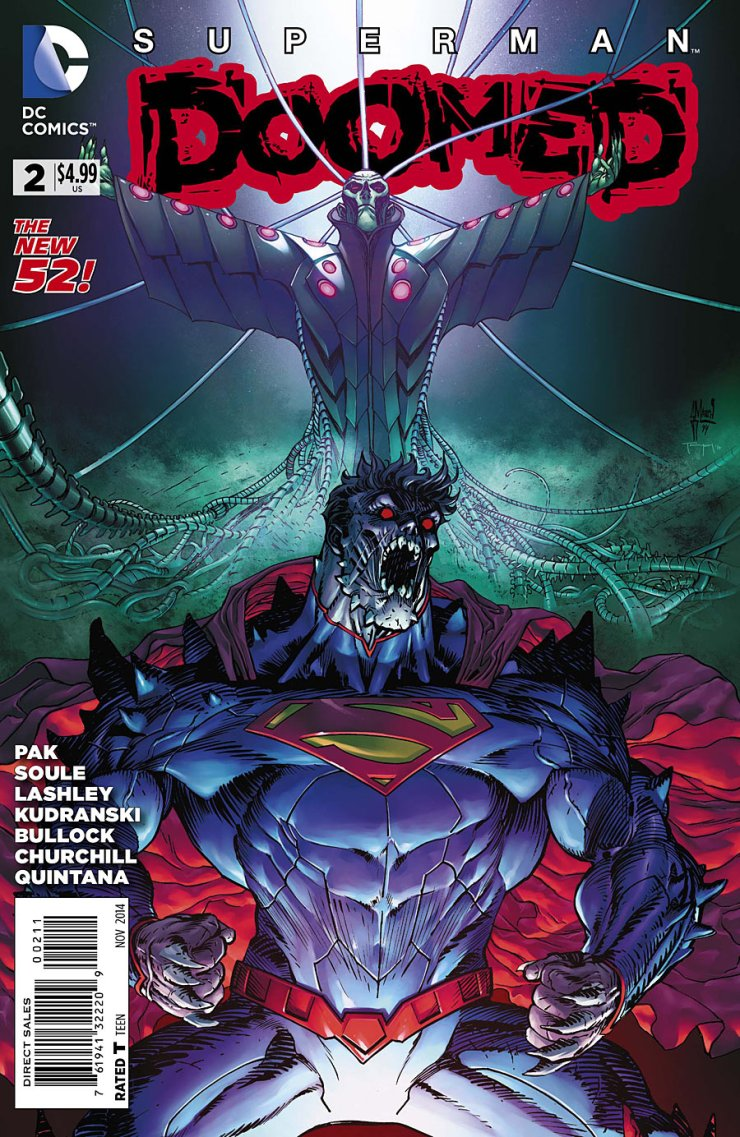As we opened with Doomed #1 back in May, we have come to the end of the Superdoom crossover with this week's Doomed #2. While it's no Forever Evil, this event has dragged on at points, scattered amongst some truly amazing issues. So with the final confrontation between Superman and Brainiac at hand, is this final issue good?