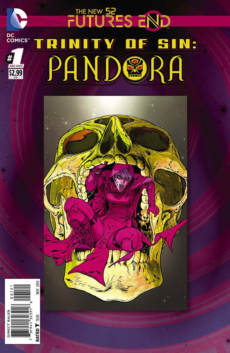 Among the books cancelled last month, Trinity of Sin: Pandora was one of them. Like with The Phantom Stranger, I wasn't really keeping up with it too well (though I recall it being nowhere as good Stranger) and with it being cancelled, it will be folded into next month's book, Trinity of Sin. Either way, this is the last issue of the series, so let's see how it concludes. Is it good?