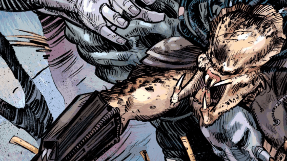 The final issue of Predator:  Fire and Stone is here and that means it's time for the one thing we've all been licking our filthy, mottled mandibles for:  hot Predator vs. Engineer action.