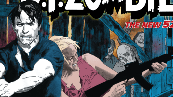 Sadly, Star-Spangled War Stories Featuring G.I. Zombie was cancelled a couple of months ago and what we have before us is the final issue.  I sort of saw this coming, since war comics unfortunately don't sell that well in this day and age.