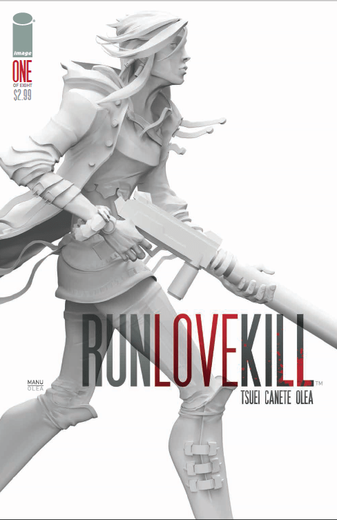 Right out of the gate Image Comics' new series Run Love Kill introduces the element of a clock ticking away, juxtaposed with a woman playing the cello and a woman running for her life.  Your heart starts pounding the minute the comic starts even though we have no idea who these characters are, which is fantastic.