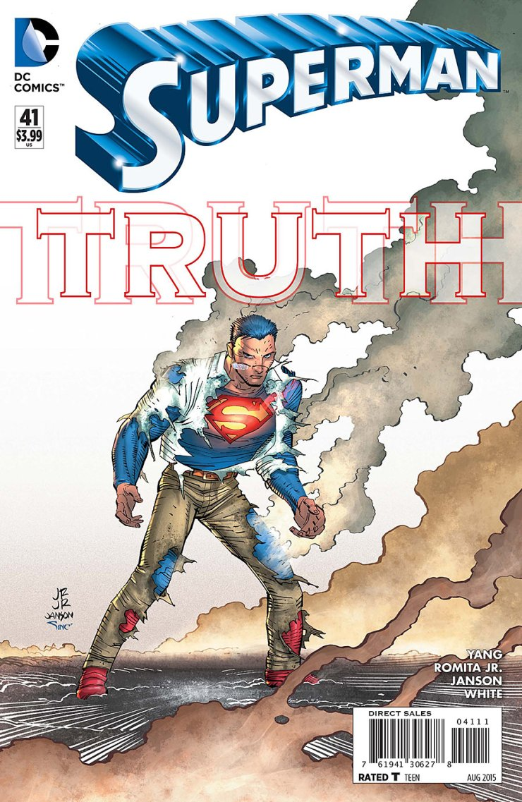 This month began the newest Superman storyline that covers all of the Super-titles, Truth. However, the thing is that all of those titles took place after the events of Superman #41. With that issue finally arriving and with a brand new writer by the name of Gene Luen Yang taking over, let's see how it all began. Is it good?