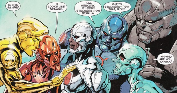 The Metal Men will make an appearance in the new series