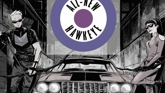 New York, NY—October 15th, 2015 — This November, Hawkeye and Hawkeye are back and they're right on target once again! Today, Marvel is pleased to present your first look inside ALL-NEW HAWKEYE #1 from the critically acclaimed creative team of Jeff Lemire (Extraordinary X-Men) and Ramón Pérez (Amazing Spider-Man: Learning to Crawl)! But it's not all straight as an arrow for Clint and Kate. A deep seeded rift now exists between these long-time partners. One that stretches across many years. Reluctantly reunited in the future, old man Clint and a wiser Kate must unite once more – to chase down the mistakes of their past. But is their turbulent trip down memory lane short lived? Be there as the all-star Hawkeye team returns for another bullseye in ALL-NEW HAWKEYE #1!