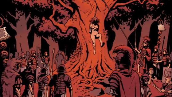 The thing that makes Hellboy compelling as a hero is that he truly is a moron.