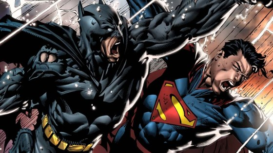 The Dark Knight and the Man of Steel have had some epic battles.  Here are their most epic.