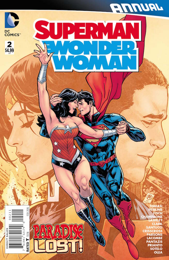 """What is the deal with the relationship between Superman and Wonder Woman? Are they really broken up and if they are did they go """"all the way""""? Those are some of the questions answered in the latest annual, but is it good?"""