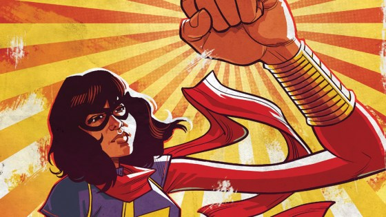 This June, as the blockbuster Civil War II heats up, Kamala Khan gets called to the front lines to join the fray! Today, Marvel is pleased to present your first look inside MS. MARVEL #8 – a Civil War II tie-in from creators G. Willow Wilson, Takeshi Miyazawa and Adrian Alphona! A new Inhuman has emerged, one with the power to predict the future. The heroes of the Marvel Universe are faced with a choice. Wield this new power to change the future as they see fit, or reject it – and allow tomorrow to unfold unaltered. As the battle lines are drawn, which side will Kamala choose? Is she ready to take a stand against her idol and mentor, Captain Marvel? Find out this June as Civil War II comes to Jersey City in MS. MARVEL #8!