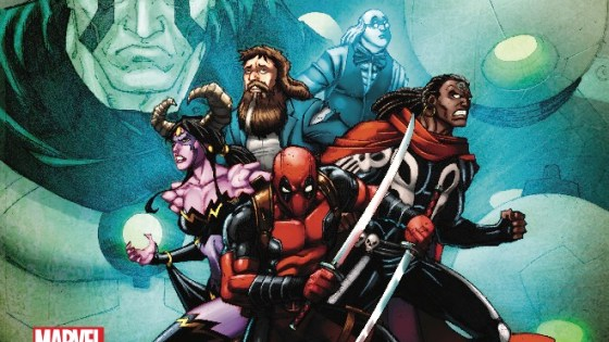 """From the pages of Doctor Strange...the Empirikul are waging a war on magic with the goal of wiping the fantastical from the pages of existence. This concerns Deadpool, because some of his best friends are magic. As the Empirikul forces batter the defenses of the Monster Metropolis ruled by his demonic wife, Deadpool wades into battle alongside his most spell-casting-est friends. And you know the old saying """"Nothing ever goes wrong in a war."""" That's a saying, right?"""
