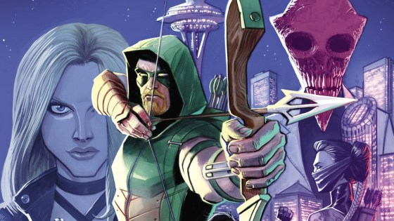 Green Arrow has managed to capture a different type of street-level crime fighting from Batman; that's partly because of the werewolf business of the last story arc, but Ollie is back to being fully human and fully committed to fighting crime with arrows and his company's cash. In his Rebirth issue Black Canary made an entrance and she continues to be involved in a big way in this issue which is exciting... but is it good?