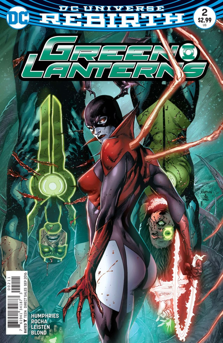 Earth is now being protected by two Green Lanterns, but unfortunately for us that doesn't mean that together they're twice as good as one Hal Jordan. That's also been a big part of the fun to this series so far.  Can the latest issue continue the fun?
