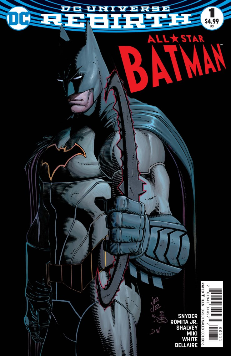 After a few months off, Scott Snyder is back to writing Batman, but this time nearly everything is different: a new artist will be joining him on each arc, Batman isn't even in Gotham, and even the story structure is changed. We got to pick Snyder and John Romita Jr.'s brains just yesterday, but let's take a look at All-Star Batman #1: is it good?