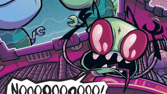 Over the past year, we here at AIPT have been been reading, reviewing and really, really enjoying the new Invader Zim comic from Oni Press.  A continuation of the Invader Zim animated series created by Jhonen Vasquez, Oni's comic has channeled the spirit and spunk of its cartoon predecessor better than just about any screen-to-page transition we can think of.