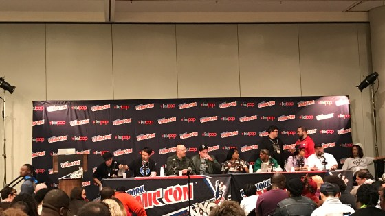 "Of the dozens of panels at New York Comic Con 2016, one that caught my eye right away was ""Hip-Hop and Comics: Cultures Combining"", hosted by Patrick A Reed. Despite being a white kid from the suburbs, I've always loved hip-hop and rap. I was a big fan of punk rock as a kid (still am), and hip-hop emobodies a lot of that same DIY, fuck-what-anyone-else-thinks ideology. I was interested then to see what some of the top names in the middle of that venn diagram had to say about relating two worlds that, at least on the surface, seem pretty disparate: hip-hop and comic books."