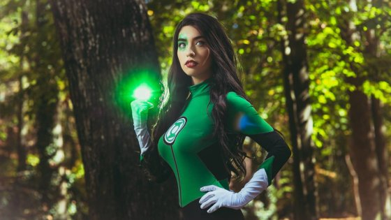 Green Lantern: Jessica Cruz Cosplay by SurfingTheVoiid