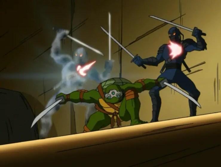 tmnt-season-1-leo-vs-foot-tech-ninjas