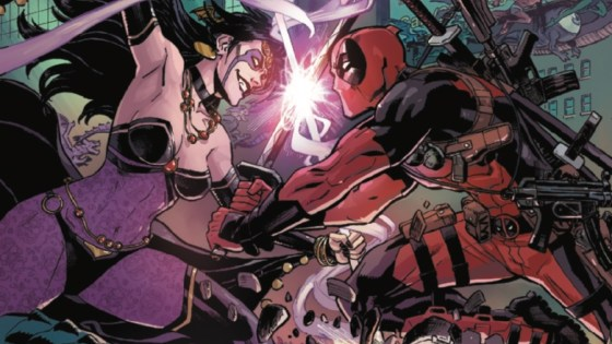 'TIL DEATH DO US… Part 1 (of 6). When an affront to Shiklah's people demands justice, a line is crossed. As the Monster Metropolis declares war on the surface world, Deadpool must choose between the wife to whom he's pledged himself and the role he's been crafting for himself as a hero.