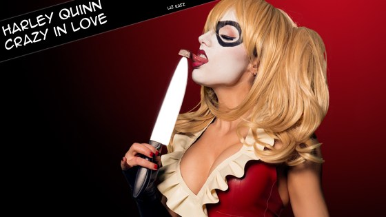 We'd be remiss as comic book enthusiasts if we didn't share this Valentine's Day-themed Harley Quinn (with her puddin', of course) cosplay photo set from none other than Liz Katz.