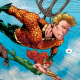 Deep underwater, no one can hear you scream. Wait, no, sound actually travels quite well underwater. In Aquaman #19, you'll get some other scientific inaccuracies and some overt allusions (is that an oxymoron?) to a horror classic. Is it good?