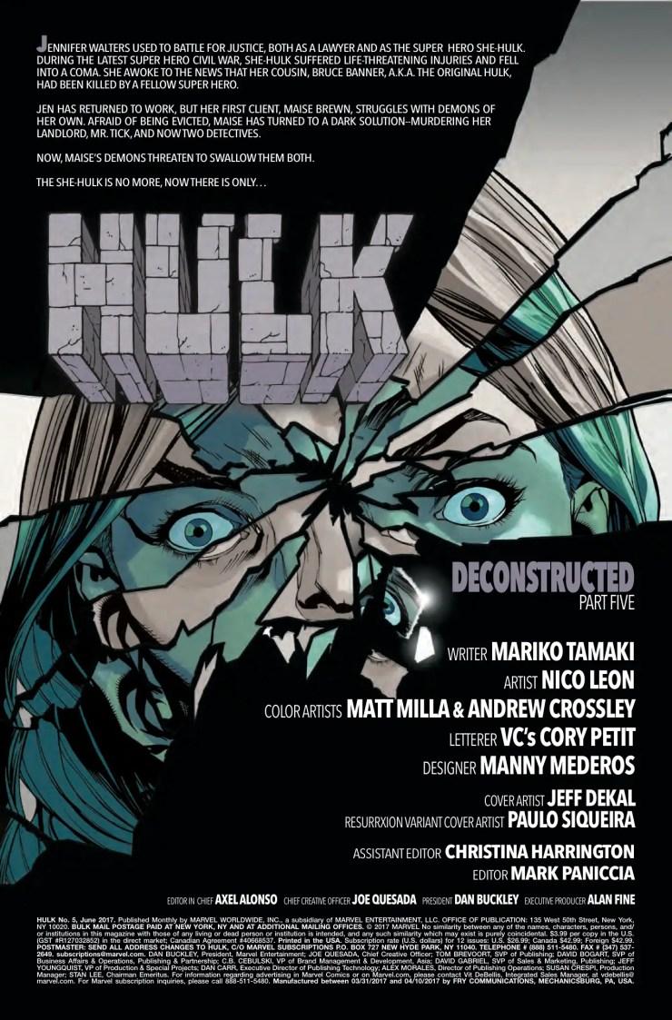 Marvel Preview: Hulk #5