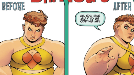 Join us for the thrilling finale of Dr. Nod and the Bod Squad vs. The Great Lakes Avengers! Watch as Big Bertha finally picks on someone her own size! Cringe as Flatman tries to lead the team! Recoil in horror as Mr. Immortal wrestles a gallbladder bigger than himself! Plus, at least TWO FULL PANELS guest-starring Deadpool or your money back!