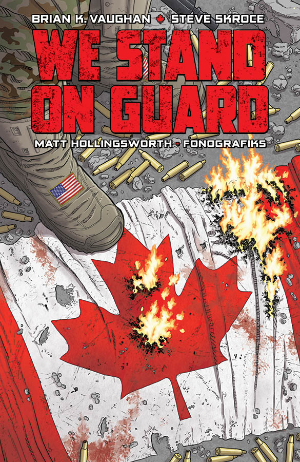 On the surface, We Stand On Guard has a lot going for it: a Brian K. Vaughan creation, an intriguingly original hook, giant robots and a grim sci-fi future Canada. But as I was reading, I kept looking for some depth, something special Vaughan was trying to say, something about the characters to latch onto. After finishing the volume, I'm not too certain there is much past the robots.