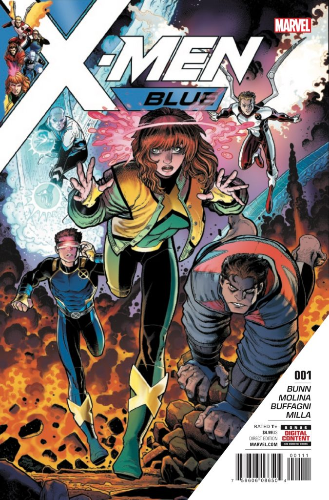 Now this, is how you give the X-Men a fresh start. A cast that's youthful and likable, and writing and art that give classic storytelling a modern spin. X-Fans who were underwhelmed with last week's (now controversial) X-Men: Gold #1 should not pass up X-Men: Blue #1 from writer Cullen Bunn and artist Jorge Molina.
