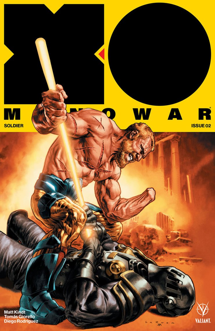 Valiant Entertainment was smart to get Tomas Giorello to draw this series, because for all intents and purposes this is a Conan the Slayer-type tale mixed with science fiction elements and a whole lot of war. The first issue was a hellish war story with Aric starring as the hero who does it all. Action packed, epic, and gorgeously drawn, it's a series worthy of any fantasy, science fiction, and war story fan.
