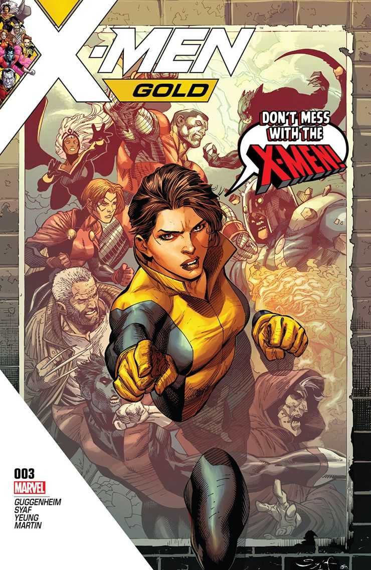 Well it's here, the finale of the rocky first arc of X-Men: Gold. Can Guggenheim and Syaf turn around what has been a dismal introduction to this team book and salvage any hope for a coherent and well told story? Nope! This one stinks too!