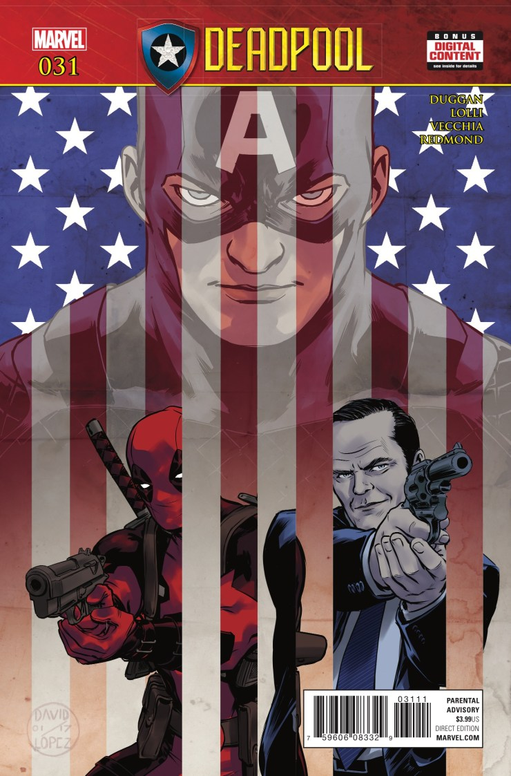 SECRET EMPIRE TIE-IN! Deadpool trusts Steve Rogers implicitly. How could he not? Now, it's time to put that trust to the test. The result will have serious ramifications for Deadpool in days to come.